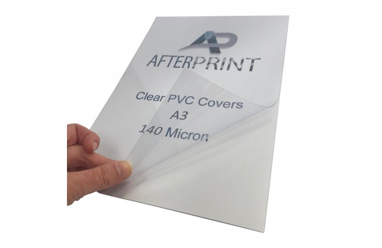 Clear PVC Binding Report Covers A3 140 Micron